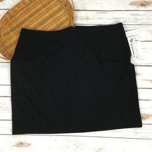 Amanda + Chelsea  sz 18w Black  A-Line Skirt NEW